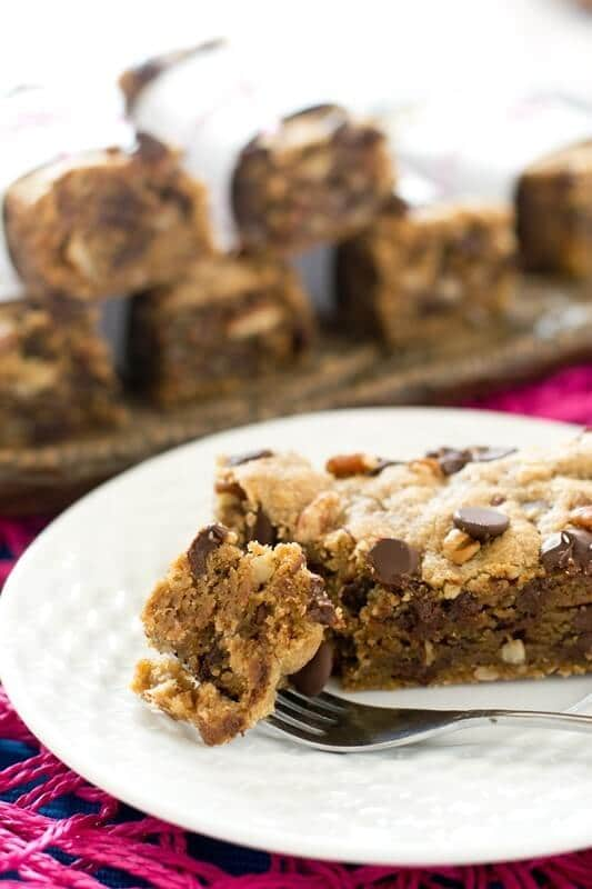 Chocolate Chip Butterscotch Cookie Bars Recipe - Tastes of Lizzy T