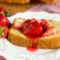 Fresh, sweet strawberries are simmered to make this sweet Homemade Strawberry Topping with a hint of lemon and vanilla that beats store-bought syrup any day. Serve on shortcake, pancakes, pound cake, ice cream....the possibilities are endless!