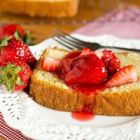 Strawberry yogurt gives this moist Strawberry Yogurt Cake its light strawberry flavor. Serve it plain, with fruit topping, or prepare it as French toast. This simple, versatile recipe will become a favorite!