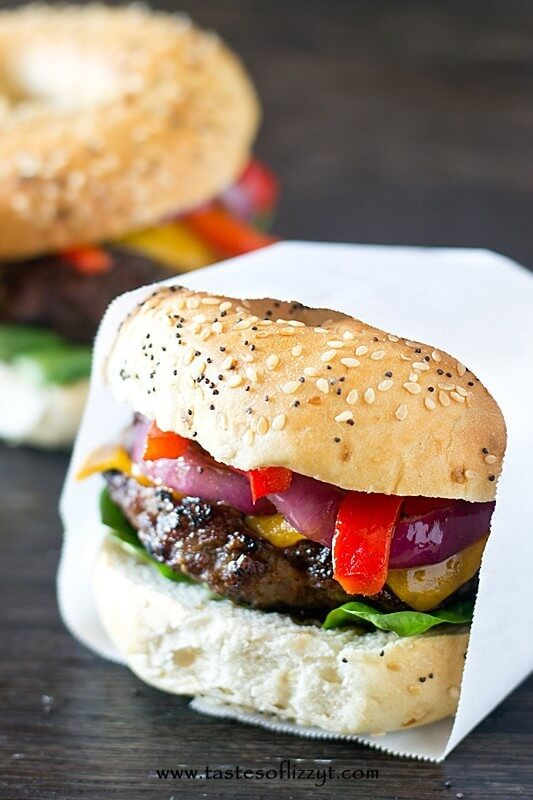 Grilled Sausage Burger Recipe - Tastes of Lizzy T