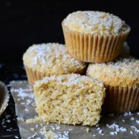 These whole wheat coconut muffins are 100 percent whole wheat, but they are still tender and moist.