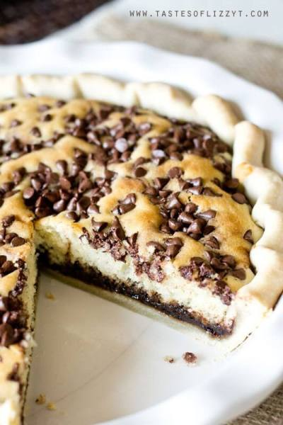 Chocolate Chip Funny Cake Pie