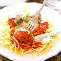 Homemade Italian Meatballs with ground beef, bread crumbs and parmesan cheese