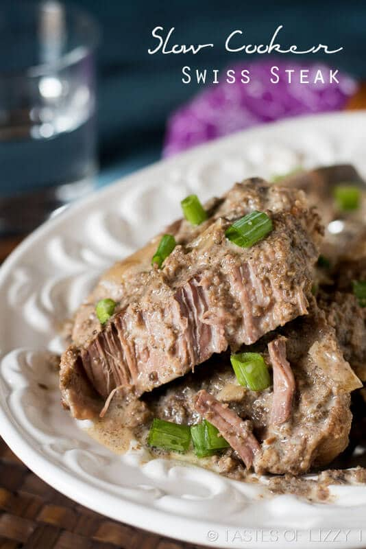 This comforting, slow cooker swiss steak is healthy and made with real food ingredients. A paleo and Whole30 approved dinner that the family will love!