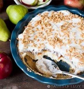 Layered Caramel Apple Cheesecake Dip - one of the best apple recipes to make for a sweet dip