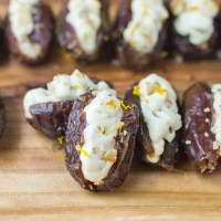 Orange Walnut Stuffed Dates {Easy Snack or Appetizer Recipe Idea}