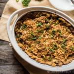 Use up your Thanksgiving leftovers to make this creamy Turkey and Stuffing Casserole with green beans. All the flavors of Thanksgiving in one simple recipe.