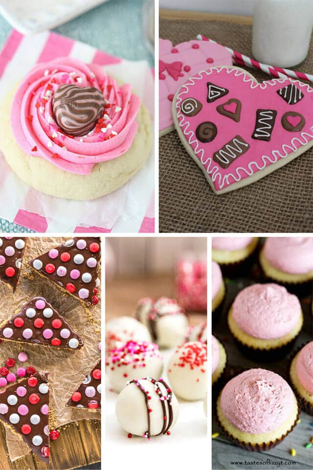 53 of the best pink and red Valentine's Day recipes. Cookies, cakes, breakfast ideas, desserts. Red Velvet, fruit desserts and more!