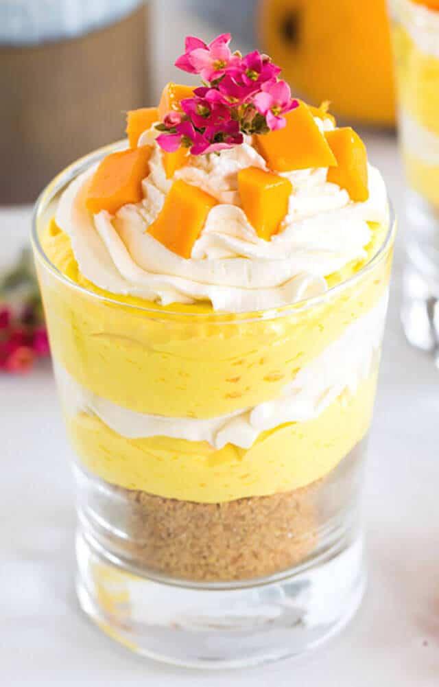 No Bake Mango Cheesecake Trifles Make in Individual Jars
