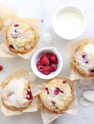 lemon-poppy-seed-raspberry-muffins-with-lemon-glaze