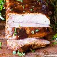 easy roasted pork loin with bacon