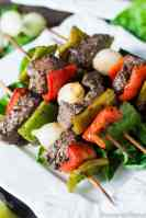 Christmas Kebabs Recipe {with Beef and Peppers}