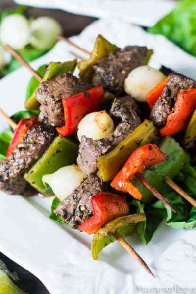 Christmas Kebabs {with Beef and Peppers}