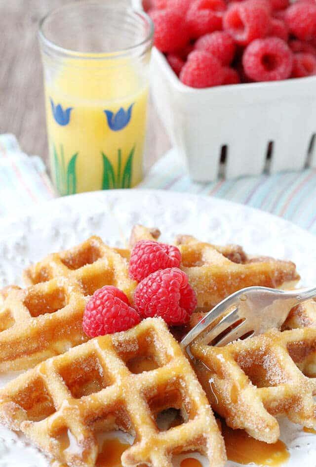 churro-waffles-easy-breakfast-recipe