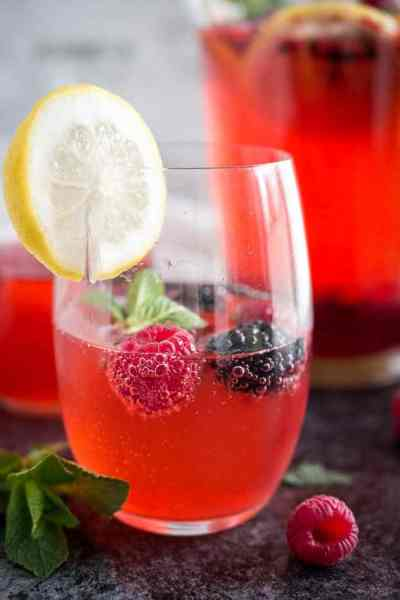 Sparkling Raspberry Mint Lemonade