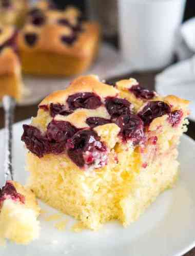 Easy Cherry Snack Cake