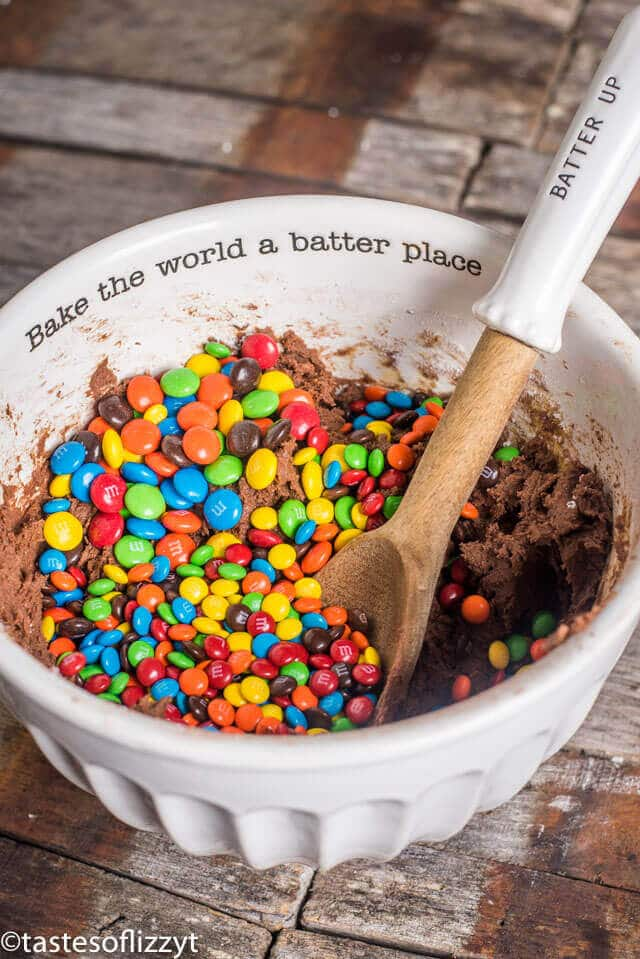 bake the world a better place mixing bowl for cookie dough