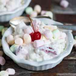 Old Fashioned Glorified Rice is a creamy dessert with marshmallows, strawberries, pineapple... and rice! A unique no bake recipe for summer picnics.
