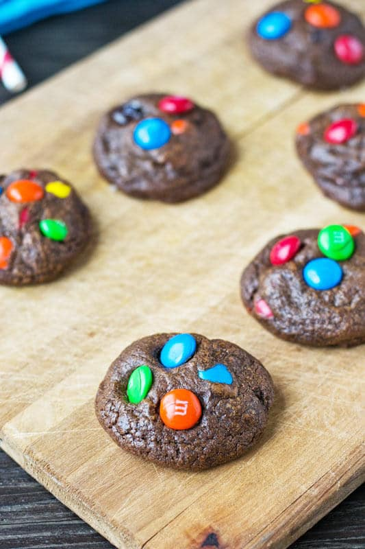 easy double chocolate cookie recipe with chocolate candy