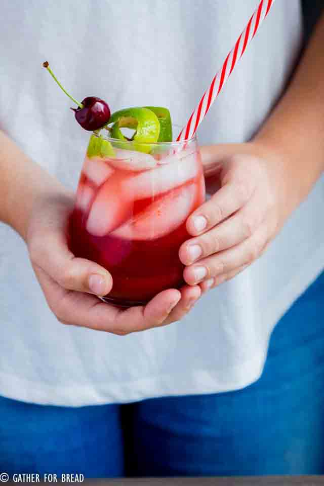 Homemade Cherry Limeade is an easy summer drink that the kids will love.
