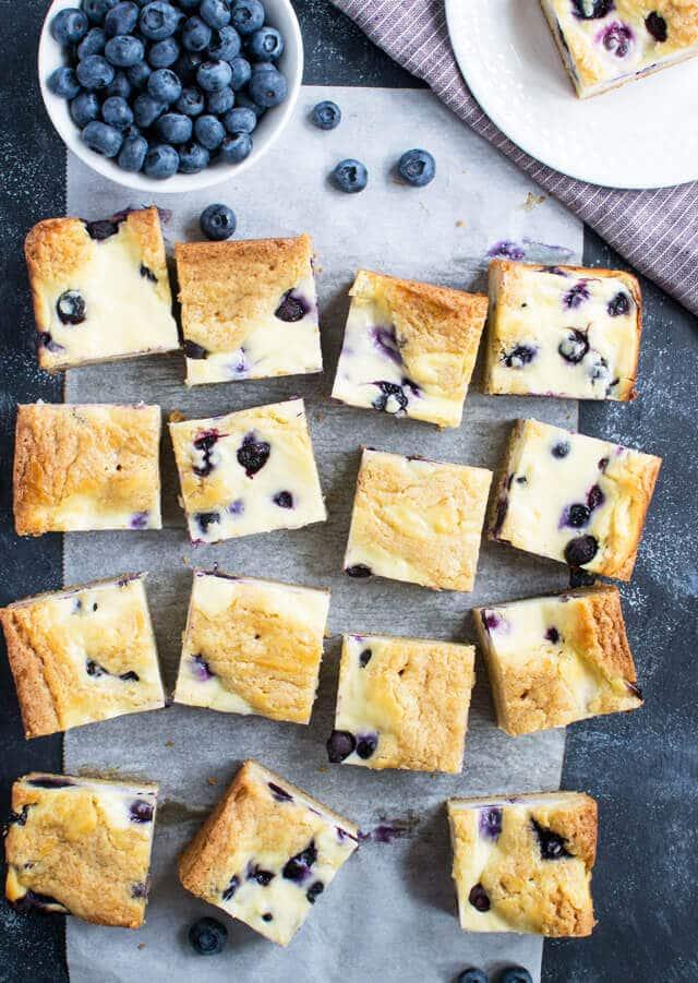 Blueberry Cheesecake Blondies