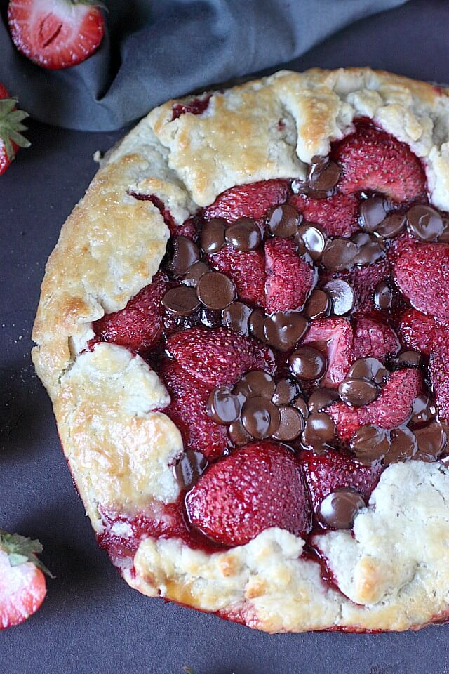Strawberry Chocolate Galette