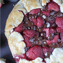 Strawberry Chocolate Galette