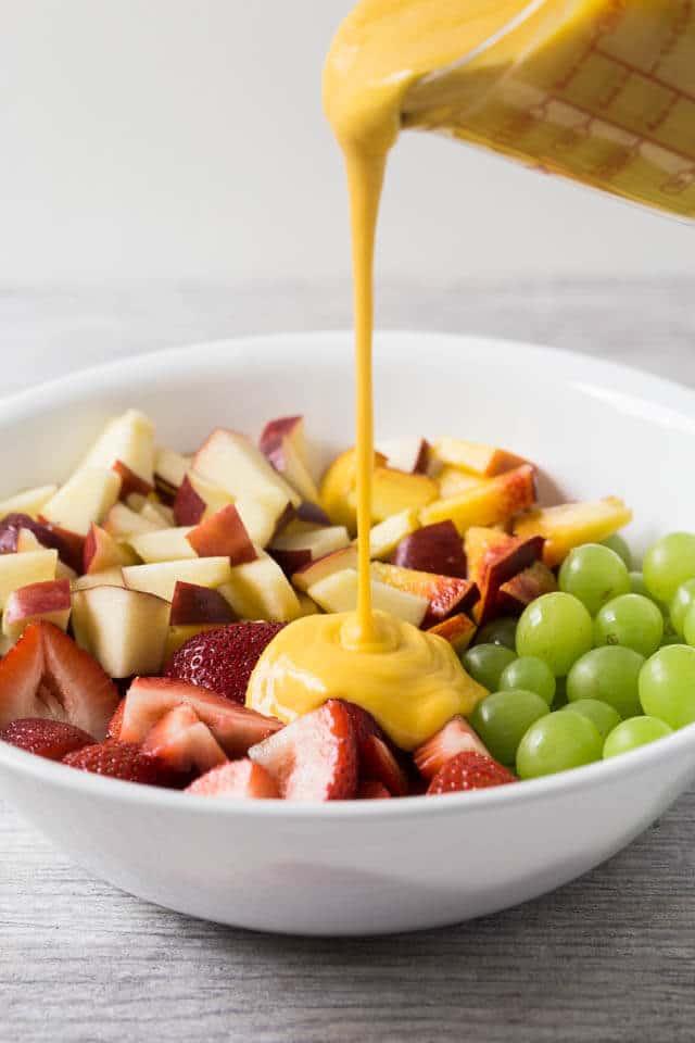 Creamy Mango Fruit Salad