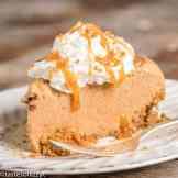 frozen pumpkin pie with a gingersnap crust