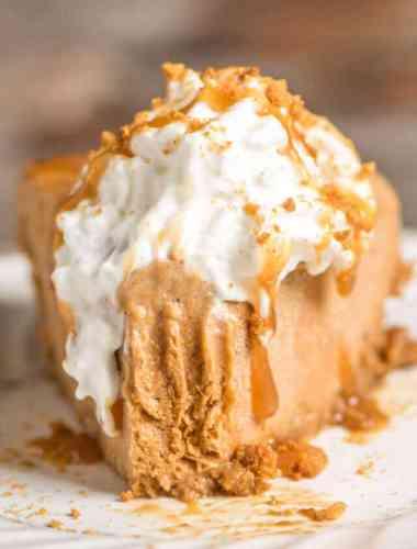 frozen pumpkin pie gelato dessert