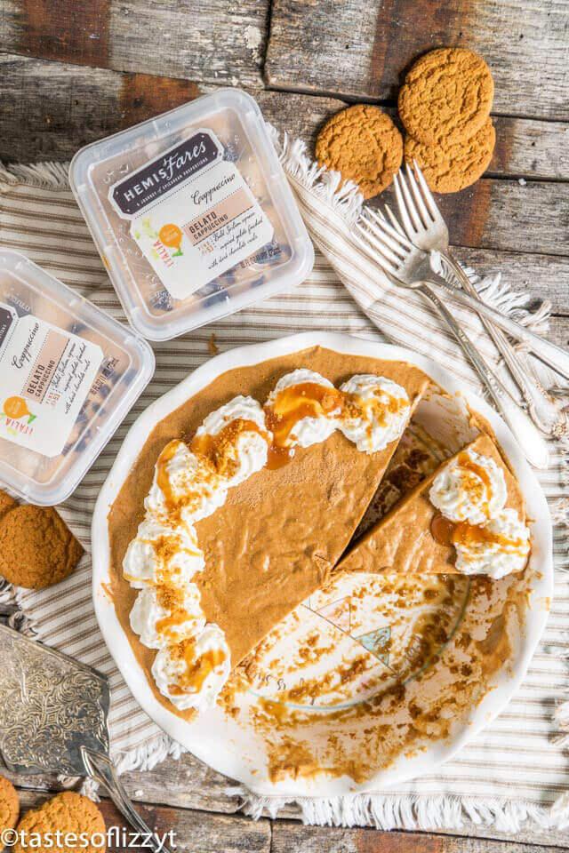 cappucino gelato frozen pumpkin pie dessert