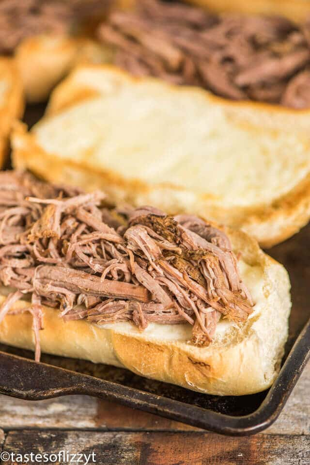 french dip sandwiches with provolone