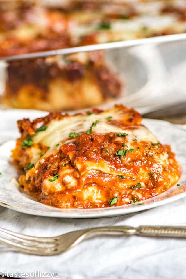 homemade lasagna recipe with ricotta cheese