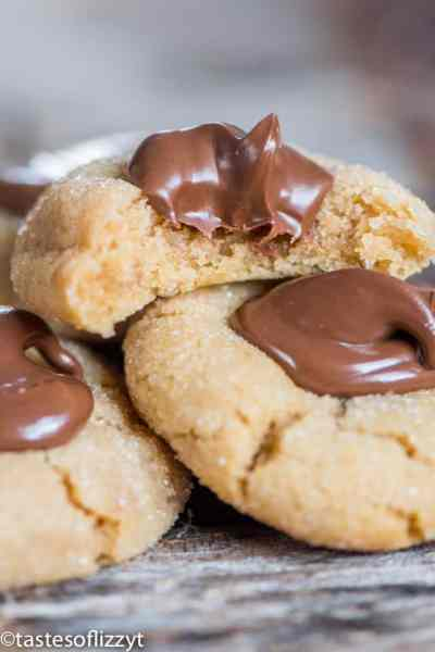 Peanut Butter Thumbprint Cookies with Nutella® Hazelnut Spread