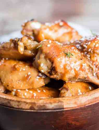 sweet and savory homemade chicken wings with honey garlic