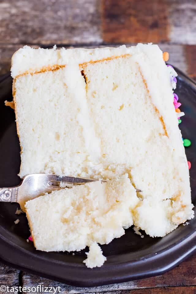 White Cake Recipe From Scratch Soft Fluffy Vanilla Cake