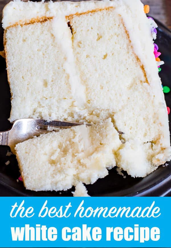 The best homemade vanilla cake recipe! Tips on how to make a fluffy white cake from scratch. This cake holds up well to layering and frosting for birthday cakes and fruit cakes.