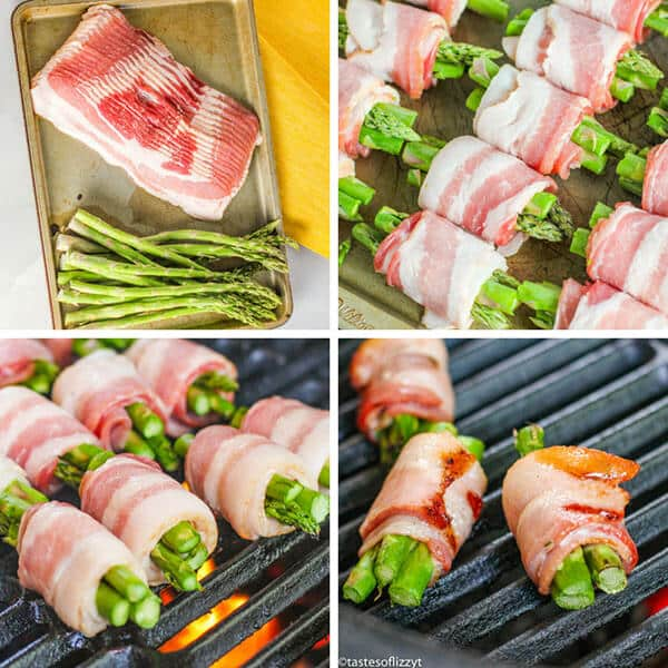 how to make Grilled Bacon Wrapped Asparagus