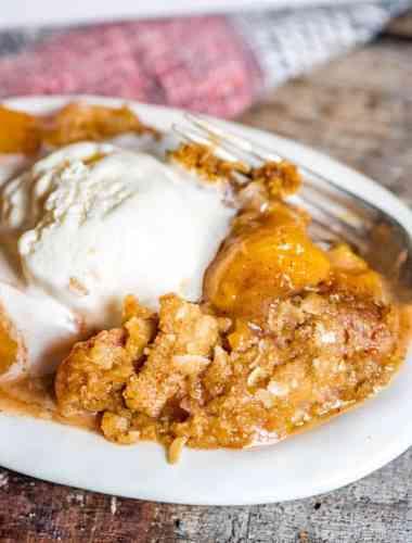 best ever easy peach crisp recipe