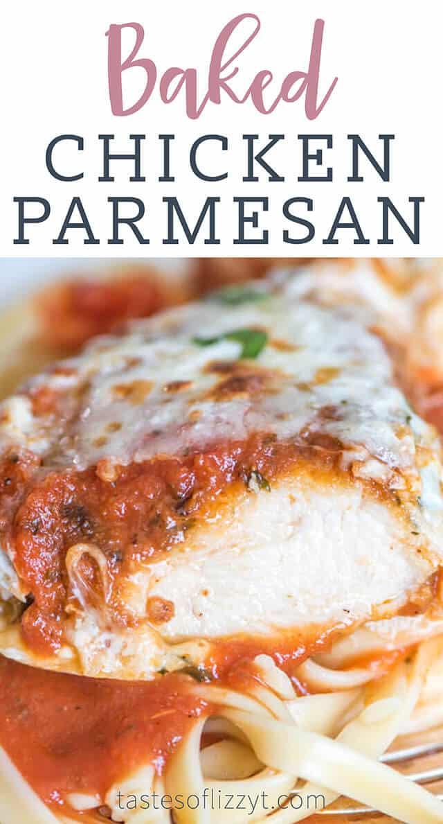Baked Chicken Parmesan Recipe with Mozzarella
