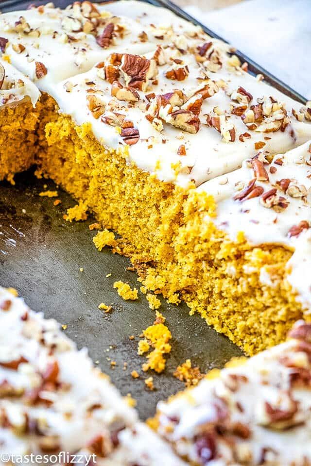 Easy pumpkin sheet cake