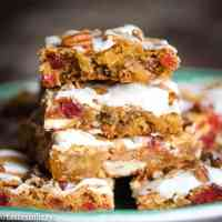cookie bars with candied cherries and pineapple