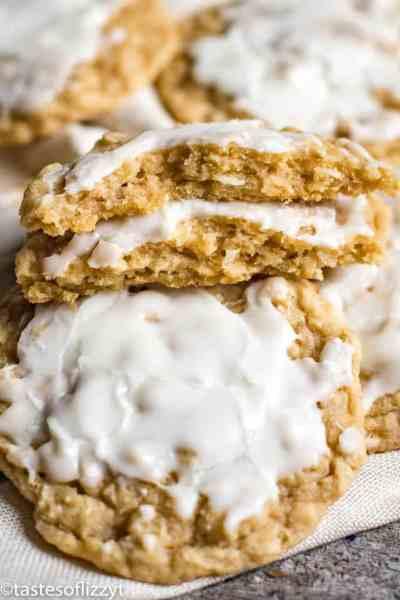 Iced Coconut Oatmeal Cookies
