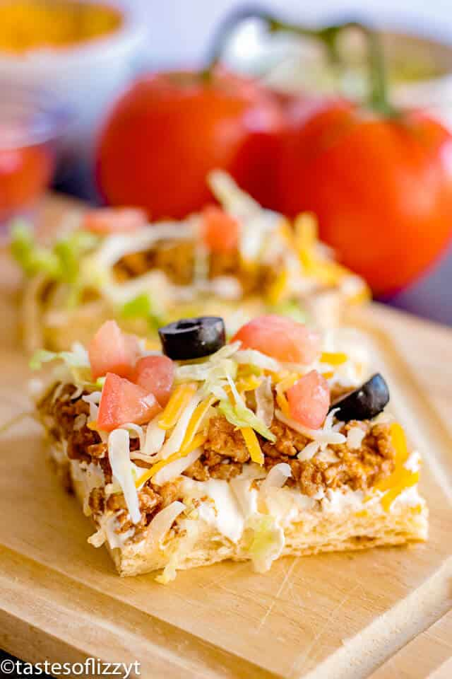 easy taco pizza appetizer