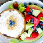 easy fruit dip with fresh fruit