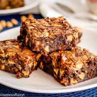 Espresso Brownies Recipe with peanut butter chips