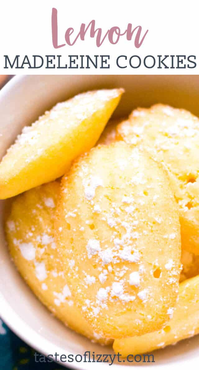 titled image (and shown) Lemon Madeleine Cookies