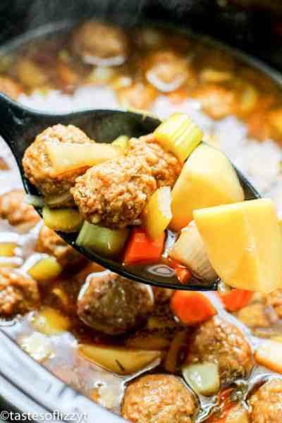 Meatball Potato Soup