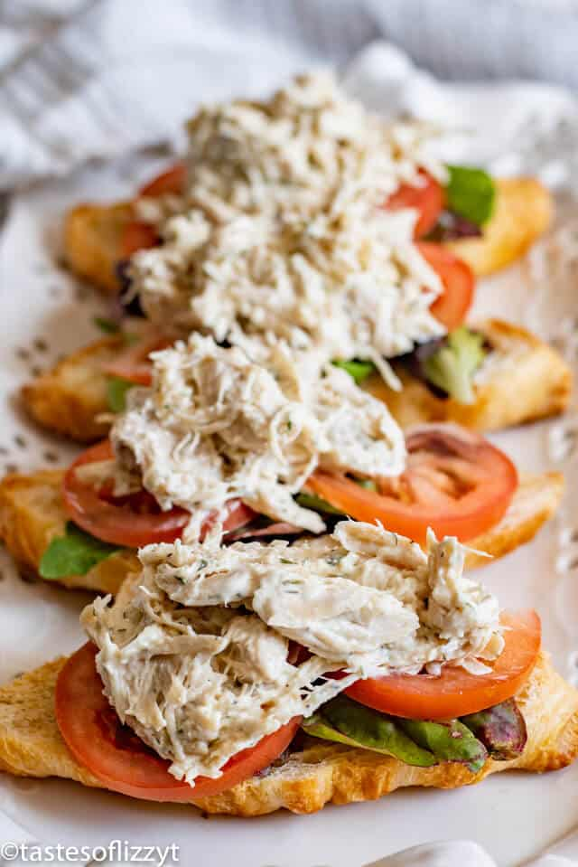 Chicken Salad with tomato and lettuce