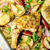 Apple Chicken Sheet Pan Dinner square image
